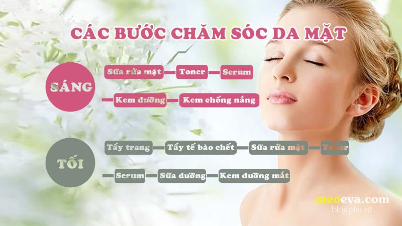 Các bước chăm sóc da mặt
