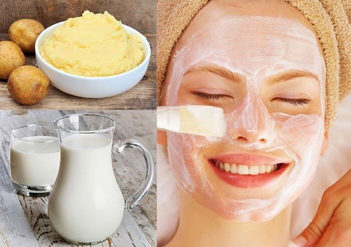 Mặt nạ khoai tây giúp làm giảm hắc sắc tố trên da