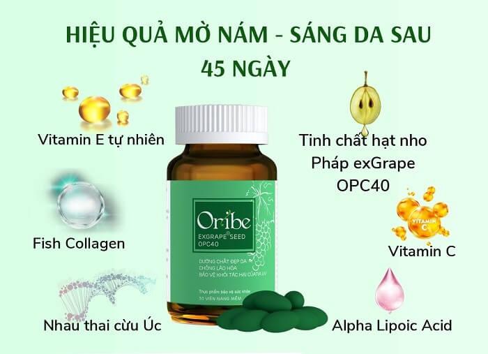 Các thành phần dưỡng da chuyên biệt trong Viên uống Oribe