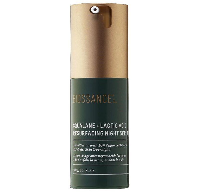 Biossance Squalene + 10% Lactic acid Resurfacing Night serum
