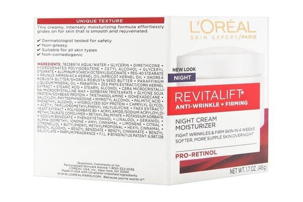 Kem dưỡng có chứa retinol của Loreal vừa giúp sáng da và chống lão hóa
