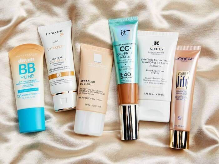 Một số sản phẩm BB Cream và CC Cream được tin dùng.