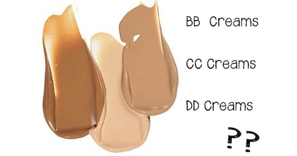 Phân biệt BB Cream, CC Cream và DD Cream