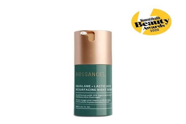 Serum giúp làm sáng da của Biossance có chứa lactic acid với nồng độ 10%