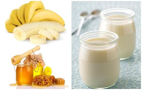 Cách dưỡng trắng da toàn thân bằng sữa chua chuối và mật ong