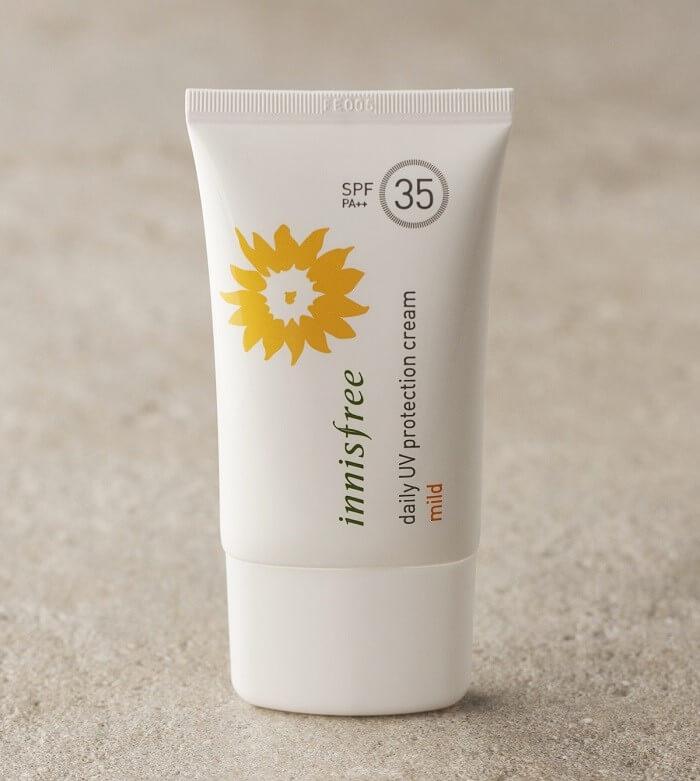 Kem chống nắng vật lý đến từ thương hiệu Innisfree