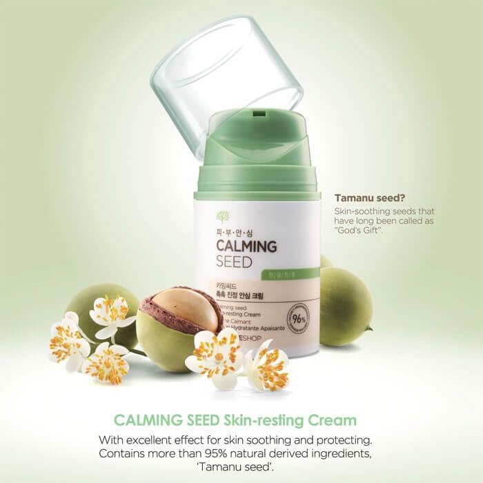 Kem dưỡng ẩm The Face Shop Calming Seed