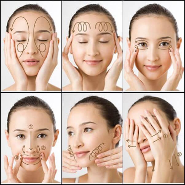 Chăm chỉ massage cho da mặt làm xóa nếp nhăn hiệu quả