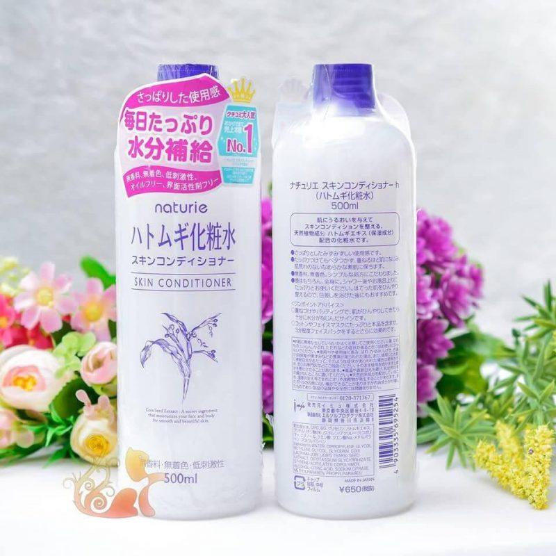 Nước hoa hồng Naturie Hatomugi nuôi dưỡng làn da khỏe mạnh căng mịn