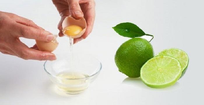 Trứng gà và chanh giúp cho da thông thoáng và mềm mại hơn