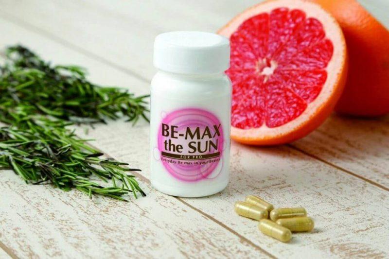 Viên uống chống nắng Be Sun có nhiều thành phần vitamin trong sản phẩm.