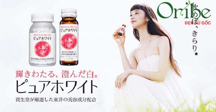 Viên uống đẹp da Shiseido Pure White xuất xứ từ Nhật