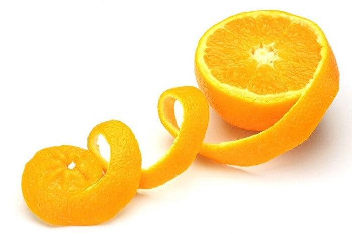 Vỏ cam có tác dụng trị mụn tốt